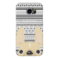 French Bulldog Love Geo Case Cream Mono