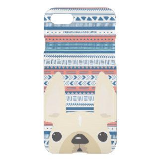 French Bulldog Love Geometric Case - iPhone CLEAR
