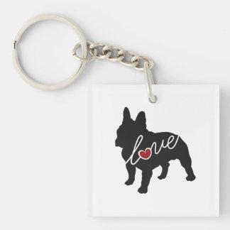 French Bulldog Love Keychain