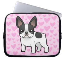 French Bulldog Love Laptop Sleeve