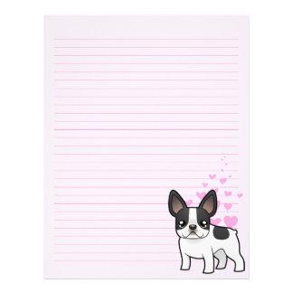 French Bulldog Love Letterhead