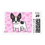 French Bulldog Love Postage Stamp