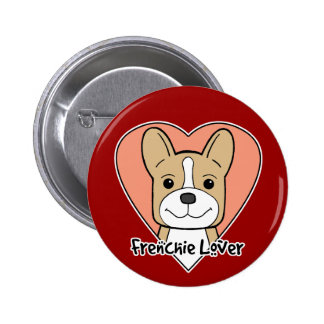 French Bulldog Lover Pinback Buttons