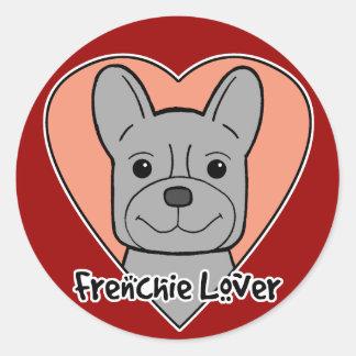 French Bulldog Lover Round Sticker