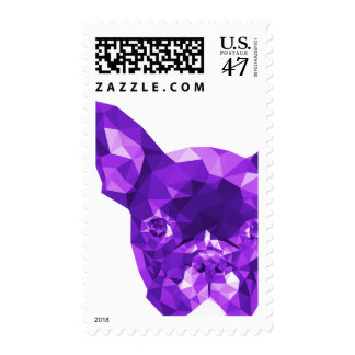 French Bulldog Low Poly Art in Purple Postage