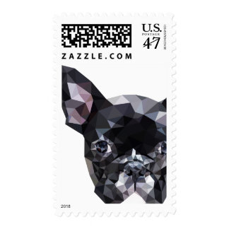 French Bulldog Low Poly Art Postage
