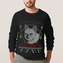 French Bulldog Merry Christmas Ugly Sweatshirt