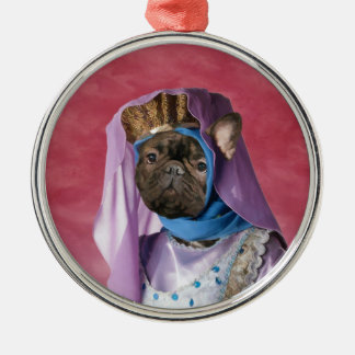 French Bulldog Middle Age Lady Ornament