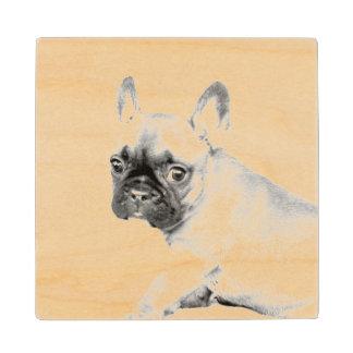 French Bulldog Maple Wood Coaster