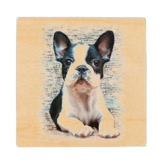 French Bulldog Wood Coaster