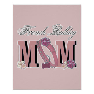 French Bulldog MOM Poster