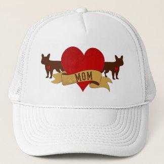 French Bulldog Mom [Tattoo style] Trucker Hat