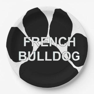 french bulldog name mega paw.png paper plate