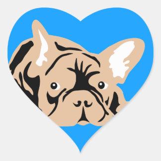 French Bulldog of poison Heart Sticker