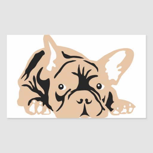 French Bulldog of poison Rectangle Stickers