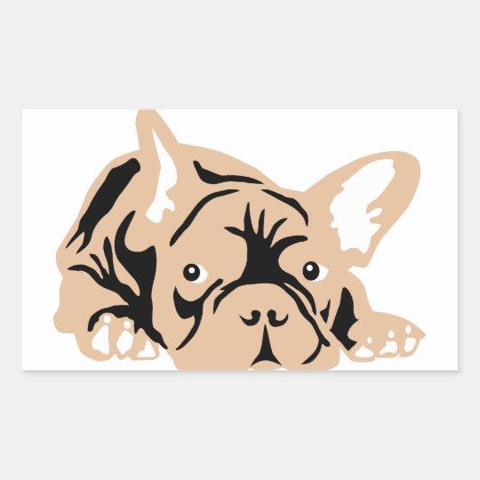 French Bulldog of poison Rectangular Sticker