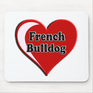 French Bulldog on Heart for dog lovers Mouse Pad