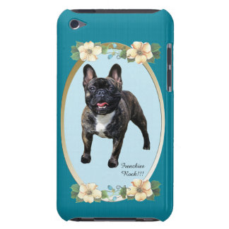 French Bulldog on Turquoise Floral Case-Mate iPod Touch Case