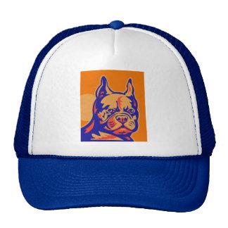 French Bulldog or Frenchie head portrait retro Trucker Hat