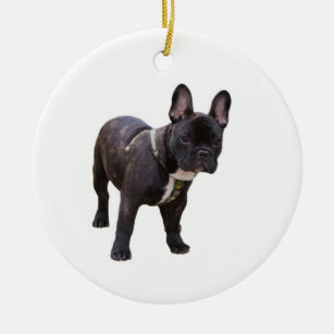 Christmas Ornament bull dog Handcrafted Frenchie dog bauble stocking stuffer dog lover gift French Bulldog Holiday Ornament