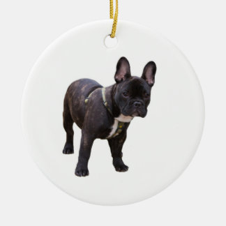 French Bulldog ornament, gift idea Double-Sided Ceramic Round Christmas Ornament