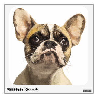 French Bulldog Painted Portrait Wall Sticker