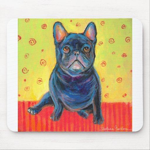 french bulldog painting 2 svetlana novikova mouse pad
