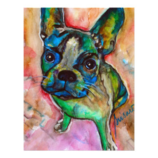 FRENCH BULLDOG PAINTING LETTERHEAD