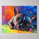 french bulldog painting Poster