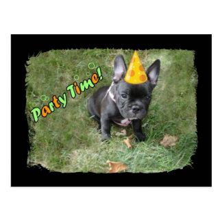 French Bulldog Party Invitation Postcard