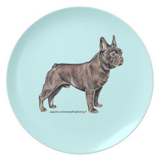 French Bulldog Party Plates
