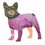 French Bulldog Patchwork Pet Ornament Acrylic Cut Out