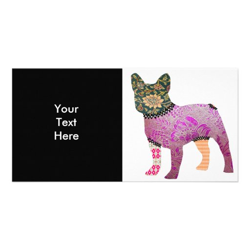 French Bulldog Patchwork Pet Photo Card