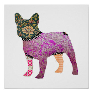 French Bulldog Patchwork Pet Print