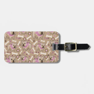French Bulldog Pattern Luggage Tag