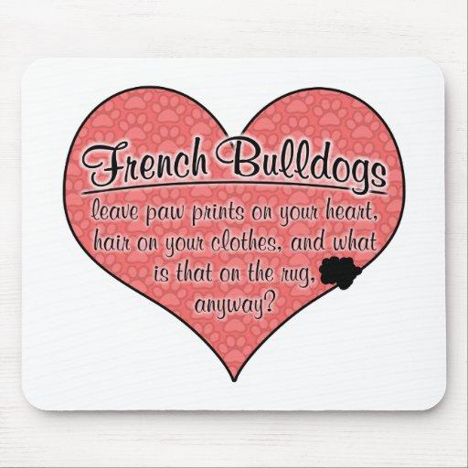 French Bulldog Paw Prints Dog Humor Mouse Pad