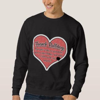 French Bulldog Paw Prints Dog Humor Sweatshirt
