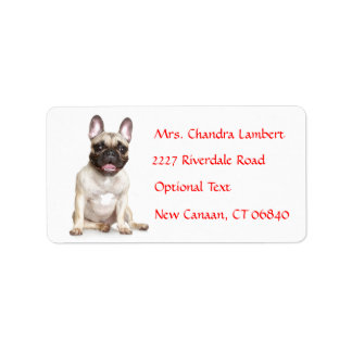 French Bulldog Personalized Name Address Label
