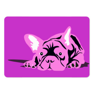 French Bulldog Pet pink Large Business Cards (Pack Of 100)