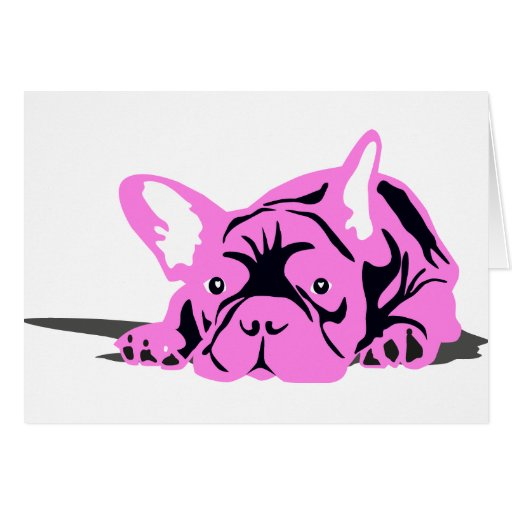 French Bulldog Pet pink Greeting Card