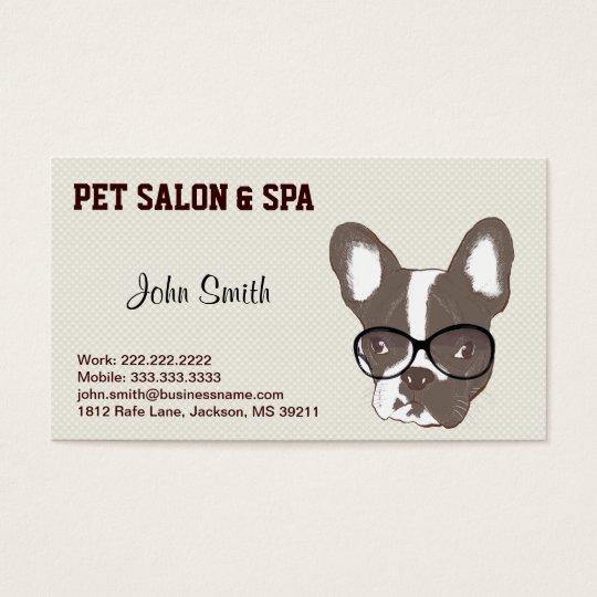 French Bulldog Pet Salon Business Card