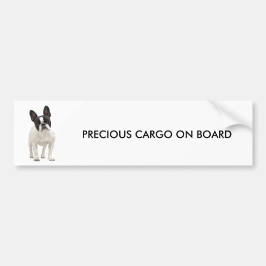 French Bulldog photo bumper sticker, gift idea Bumper Sticker