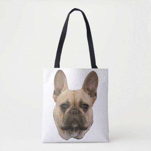 French Bulldog Photo Cute Face Picture Tote Bag