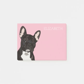 French Bulldog | Pink Cute Frenchie Post-it Notes