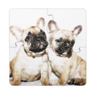 French Bulldog Puzzle Coaster