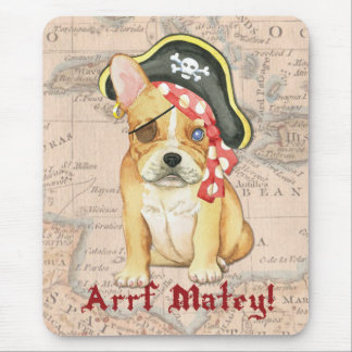 French Bulldog Pirate Mouse Pads