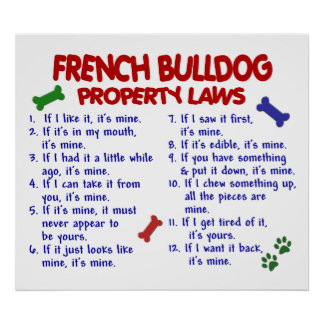 FRENCH BULLDOG PL2 POSTER