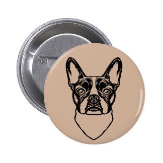French Bulldog Portrait Pin