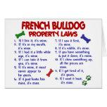 FRENCH BULLDOG Property Laws 2 Card