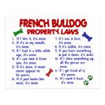 FRENCH BULLDOG Property Laws 2 Post Card